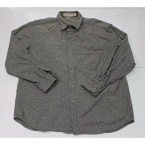 Mens L Vintage Guess jeans long sleeve shirt plaid